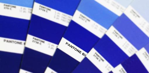 PANTONE BLUE カラーチップ